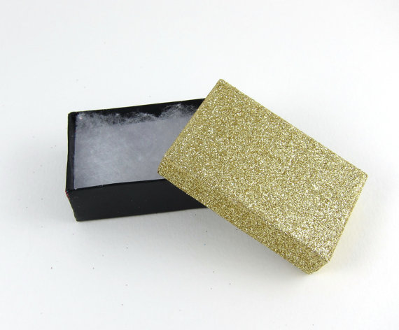 Gold Glitter Favor boxes