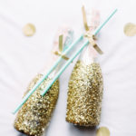 Gold glitter drinks