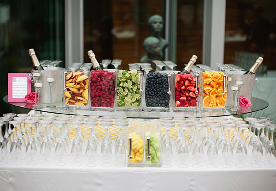 Lots of fruit for this amazing champagne bar!
