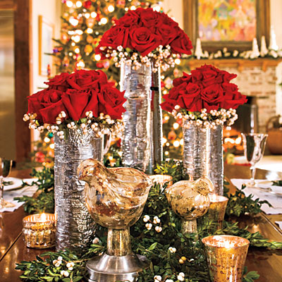 Lovely Christmas centerpieces