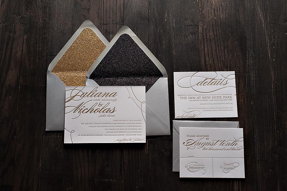 Metallic Glitter Invitations
