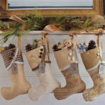 Modern Brown Christmas Stockings