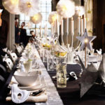 Modern New Years Eve Tablescape