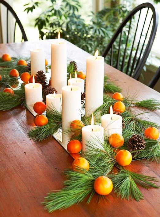 Natural evergreen christmas decor