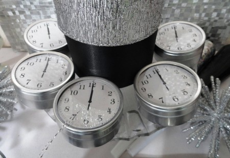 New years eve clock centerpieces