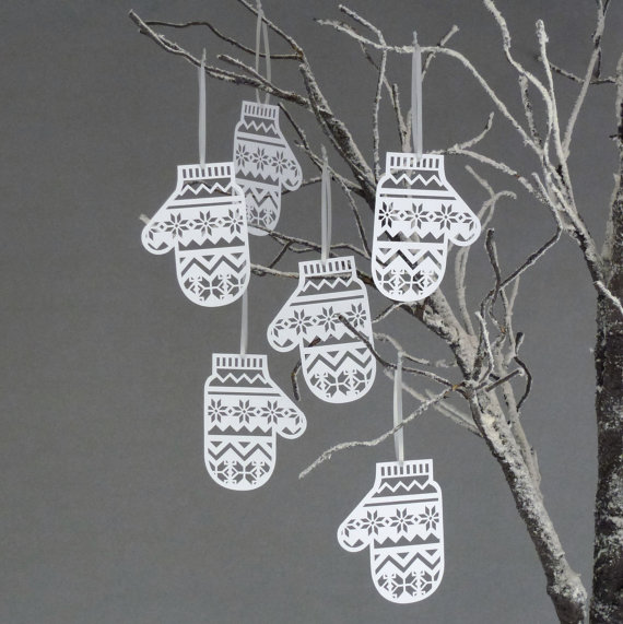 Paper Mitten decorations