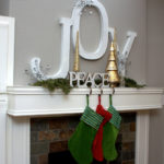 Peace And Joy Christmas Mantel