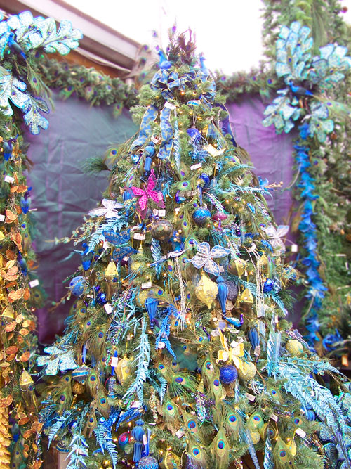 Peacock blue Christmas tree