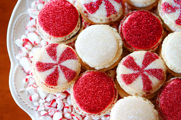 Peppermint Macaroons for Christmas!