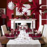 Red And White Christmas Table