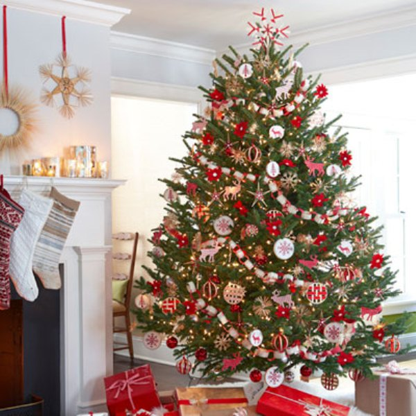 Red christmas tree ideas