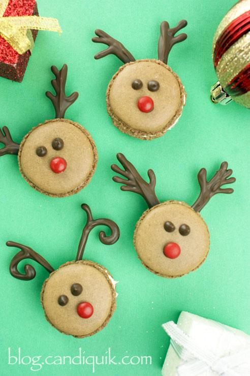 Reindeer macarons for Christmas