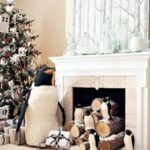 Snowy Penguin Christmas Mantel