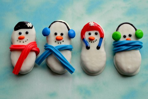 These are cute Snowman nutter butters