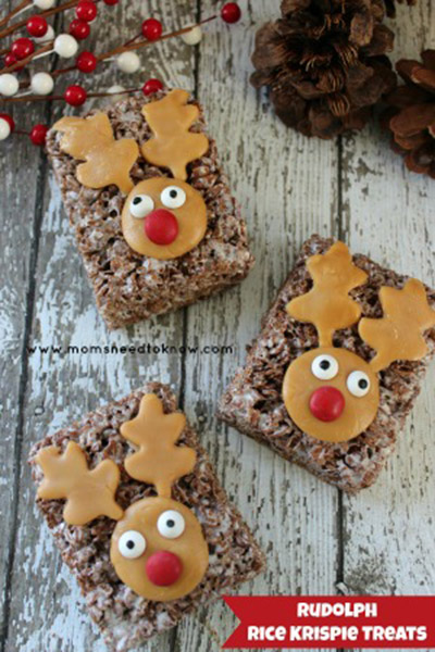 These reindeer rice crispie treats are lovely!