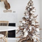 Wooden rustic modern Christmas Tree