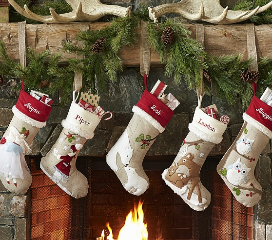 Woodland Christmas Stockings