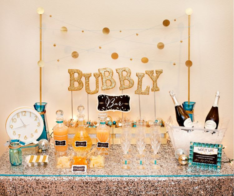 bubbly bar for New Years