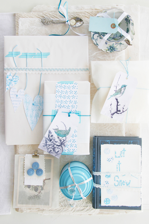 cool blue Christmas wrapping ideas