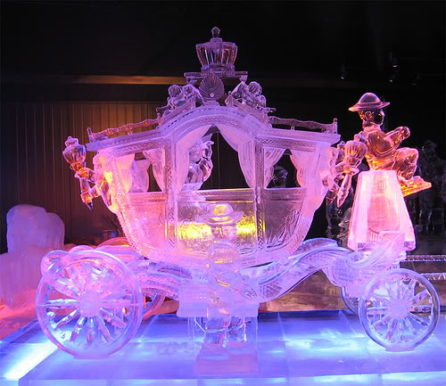 Amazing ice sculpture