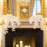 Beautiful Gold mantle decorations