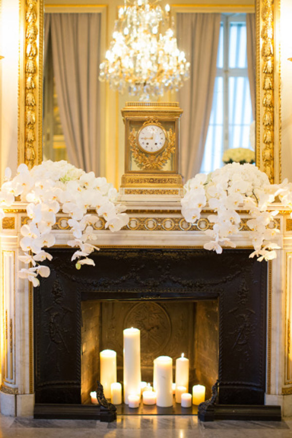 Lovley Gold Mantle Just Perfect For A Dinner Party B Lovely Events