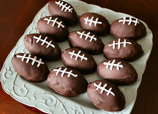 Chocolate footballs for superbowl!