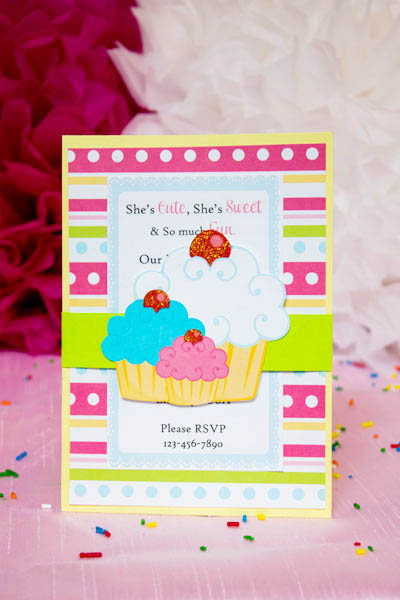 Cupcake Party Invitation!- B. Lovely Events