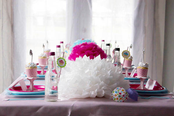 Cupcake Party Tablescape- B. Lovely Events