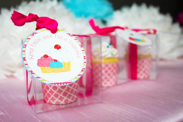 Cupcake Party favors- B. Lovely Events