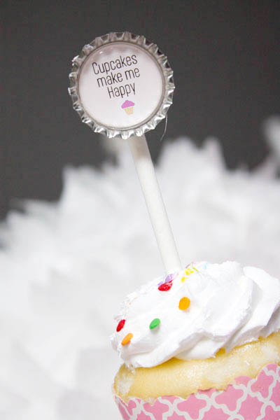 Cute Cupcake Party toppers- B. Lovely Events