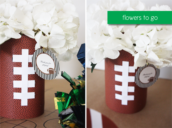 Football centerpieces for Game day!