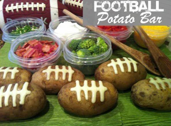 Football party Potato Bar