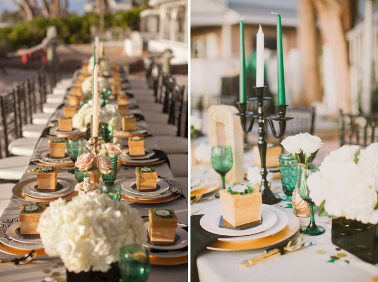 Emerald green gold engagement b lovely events - Engagement party decoration ideas home property ...