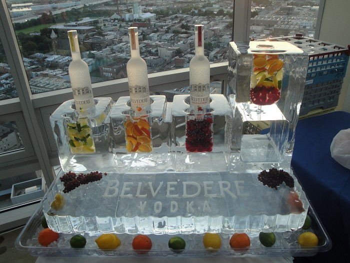 Ice sculpture bar