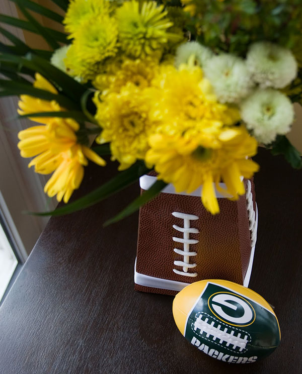 Love this football vase!