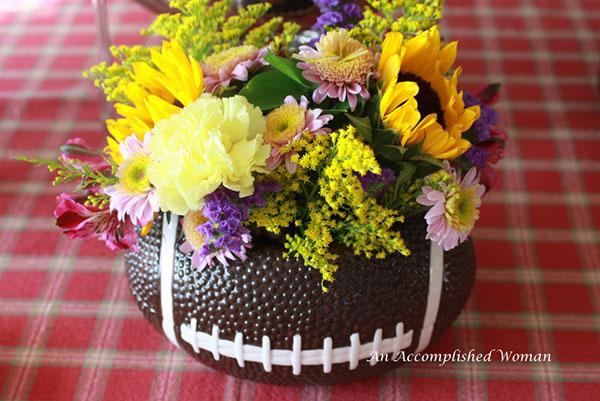 Lovely Football Flowers!