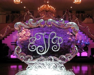 Lovely ice sculpture logo