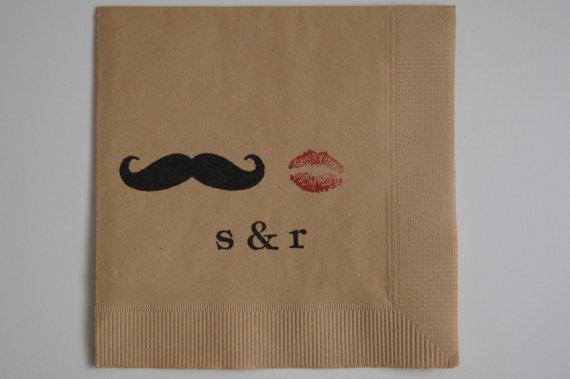 Mustache and lip napkins!