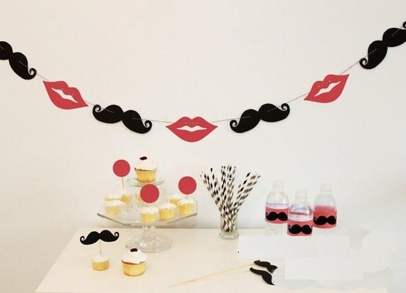 Mustache and lips party