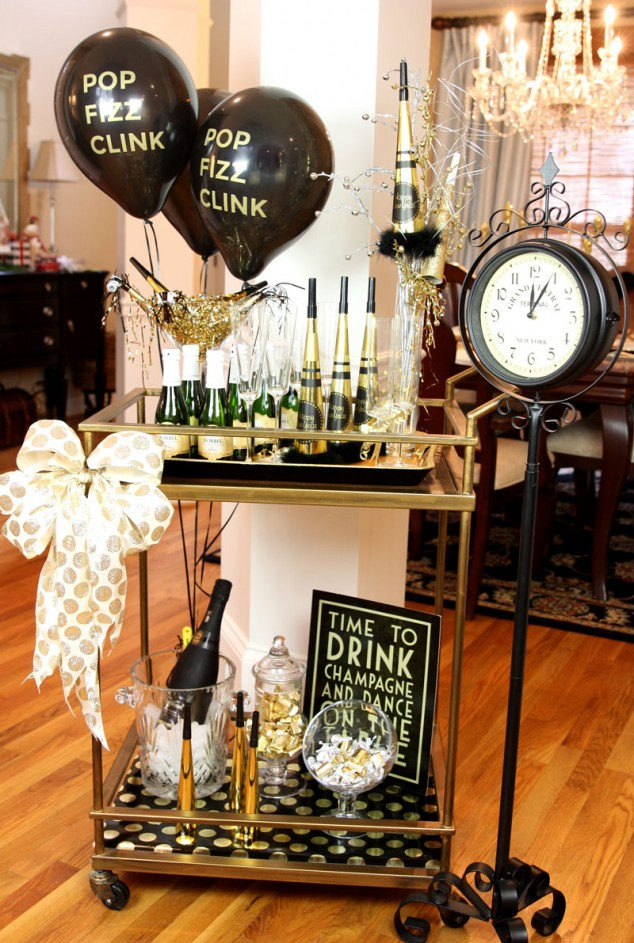 New Years Eve Bar Cart