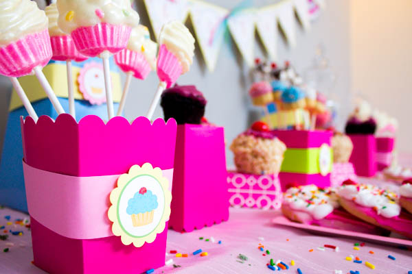 Pink And Blue Cupcake Party- B. Lovely Events