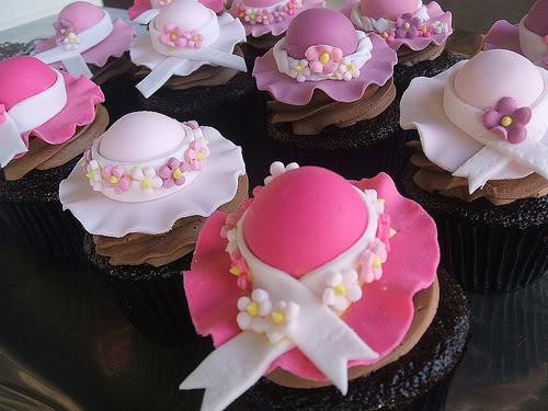 Pretty hat cupcakes