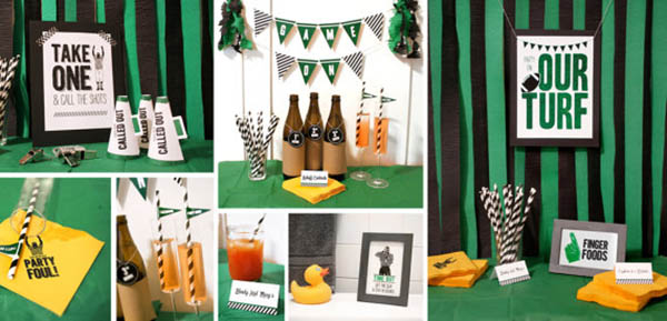 Super Bowl Party Printable Set!