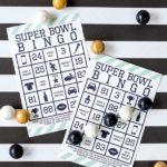 Super bowl games bingo