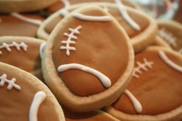 Sweet football cookies!