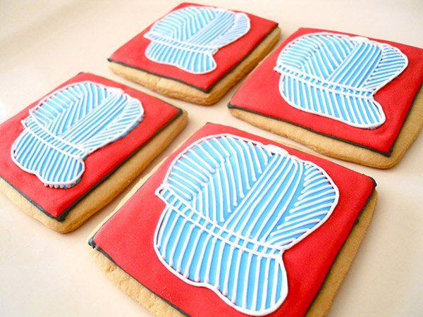 Train conductor hat cookies