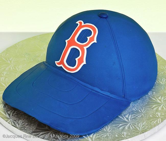 boston red sox baseball hat cake