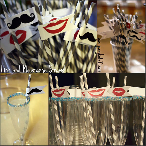 lips and mustache straws