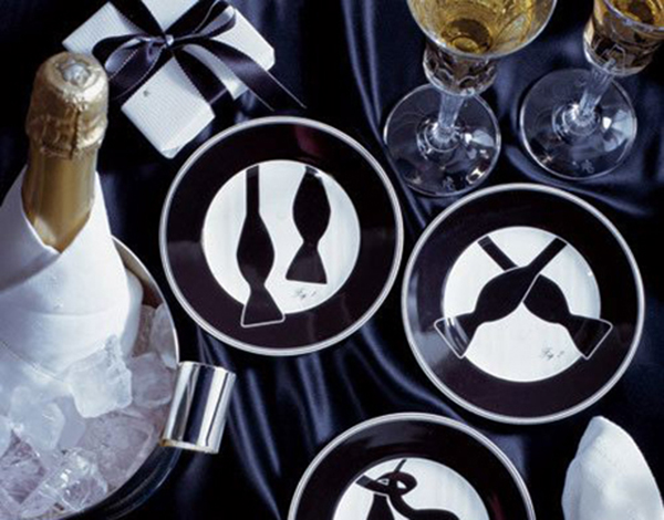 Amazing tuxedo plates, perfect the the oscars!